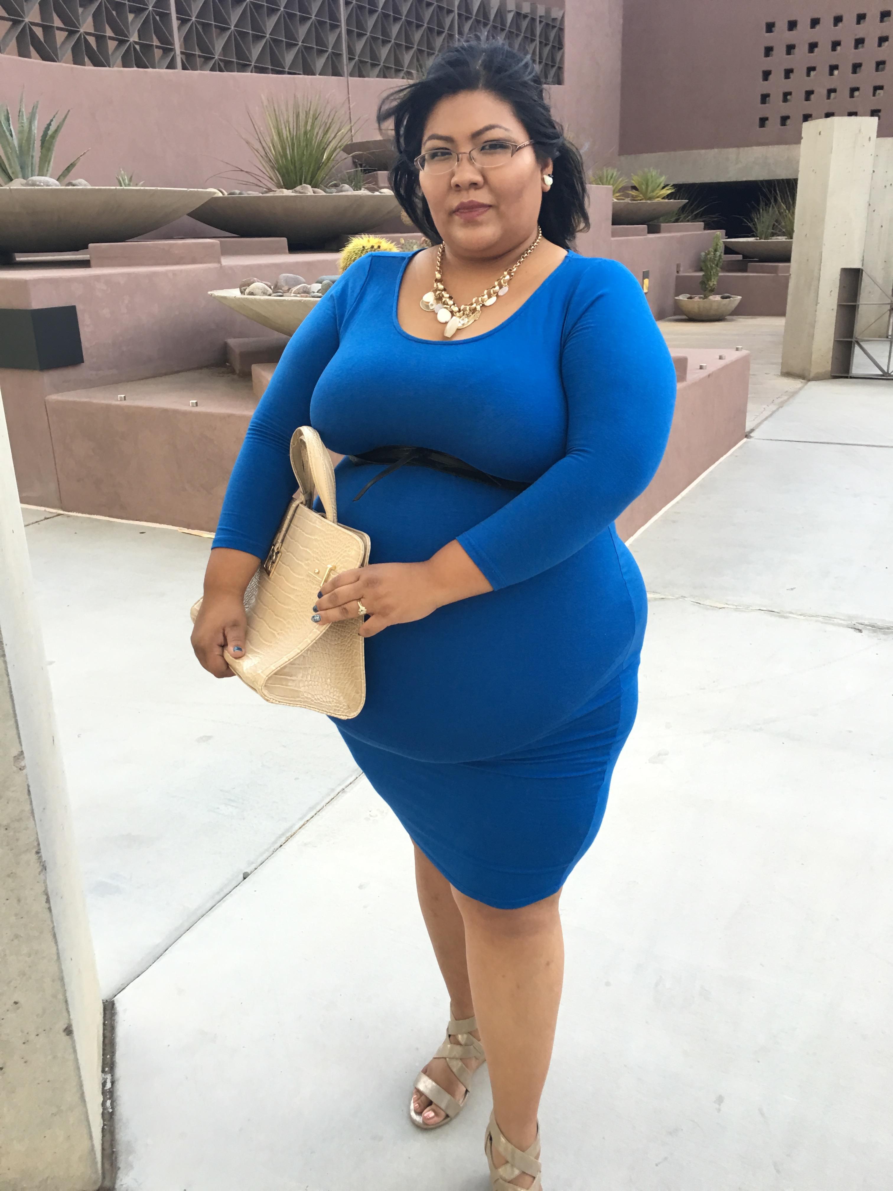 Redstreaek Girl Wearing Fashion To Figure Body Con Dress In Blue