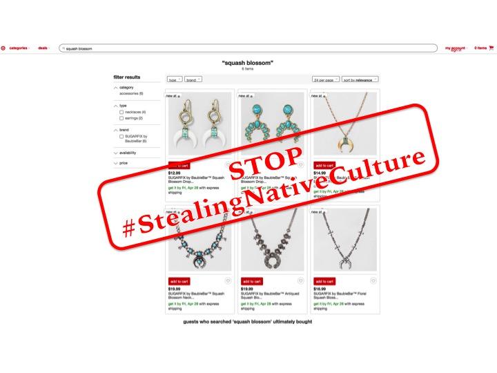 Target Screenshot Stop Stealing Native Culture #stealingnativeculture
