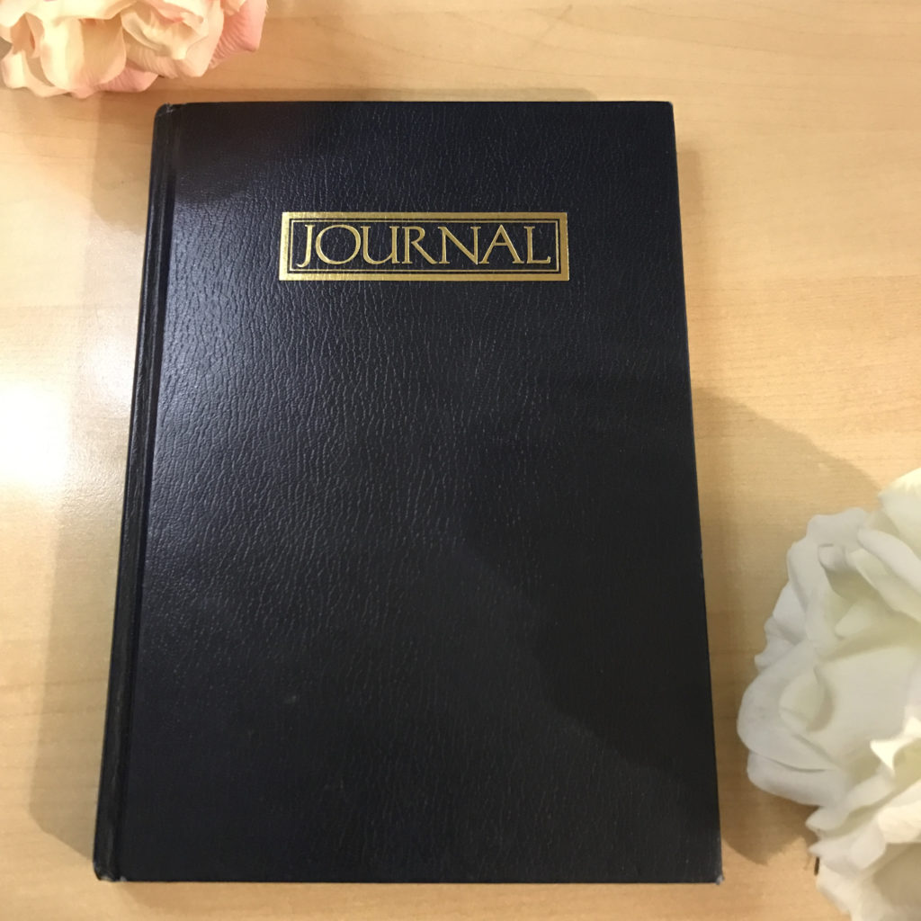 Picture of a dark blue journal