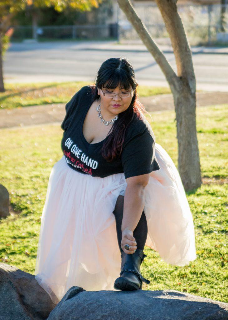 Redstreak Girl in Society+ Tutu
