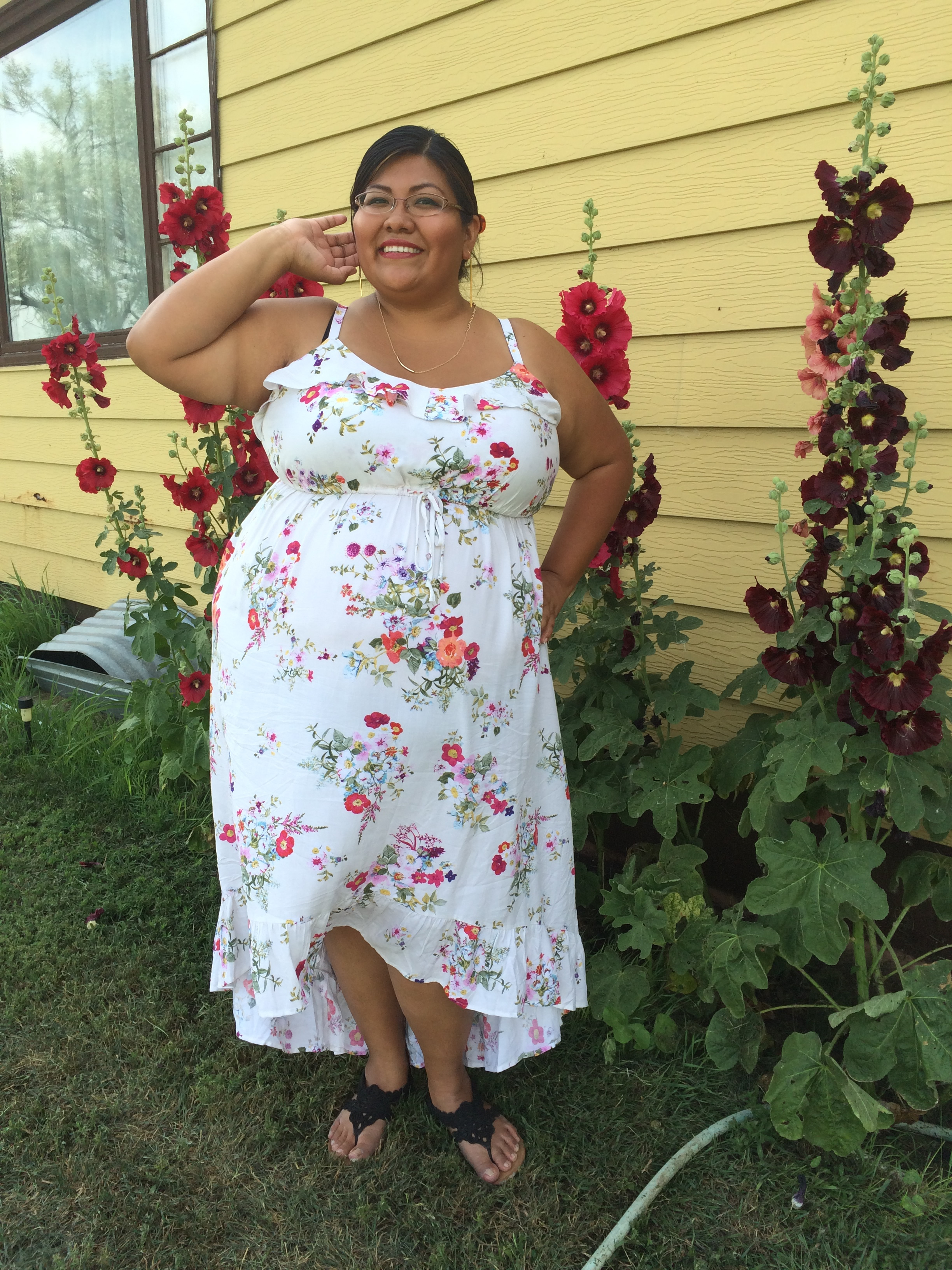3936ff97fe7 Outfit  Torrid Floral Sundress and 6 Things to Wear Under White ...