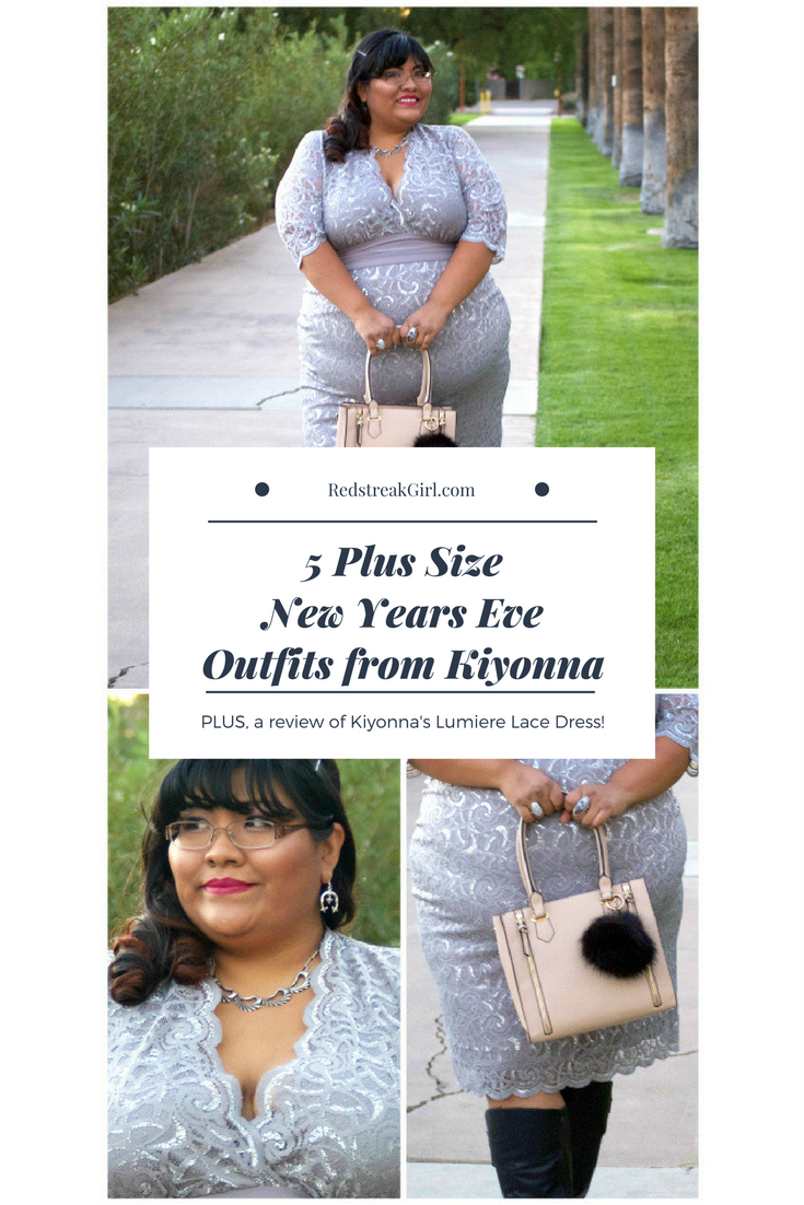 c74de225460 A Kiyonna NYE! Review of Lumiere Lace Dress - Redstreak Girl